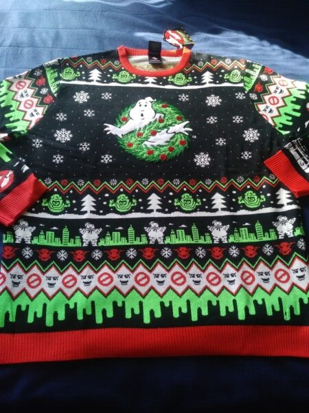 ghostbusters ugly christmas sweater gift