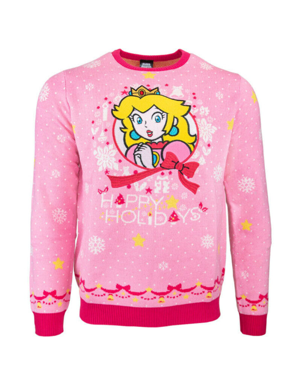 princess peach funny ugly christmas sweater nerd gift