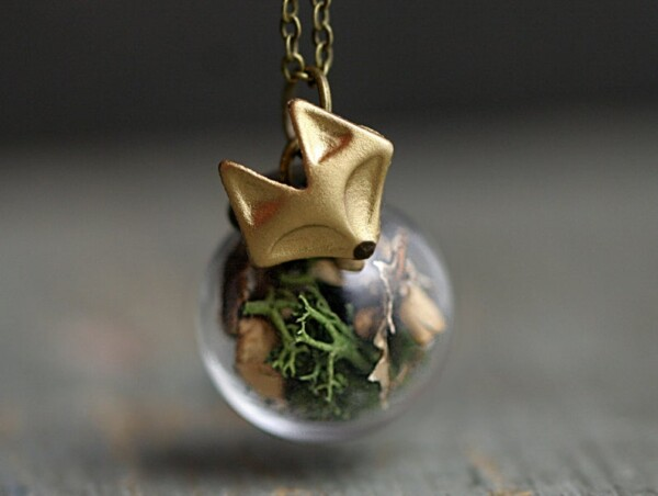fox forest necklace gift