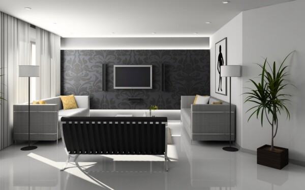 wall mounted tv focal point