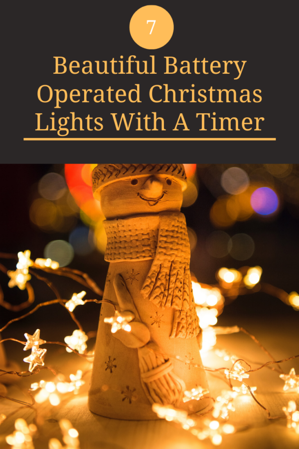 beautiful battery operated christmas lights with timer