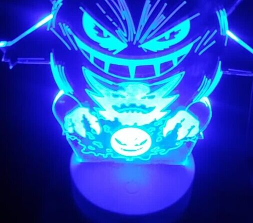gengar 3d pokemon night light